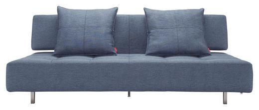 SCHLAFSOFA in Textil Blau - Blau/Edelstahlfarben, Design, Textil/Metall (210/79/113cm) - Innovation