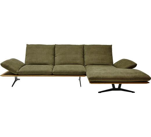 WOHNLANDSCHAFT in Holz, Textil Grün - Schwarz/Grün, Design, Holz/Textil (314/159cm) - Dieter Knoll