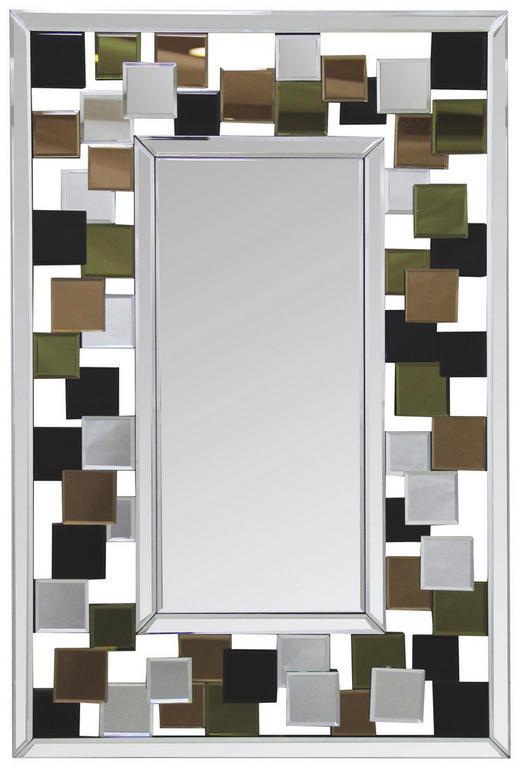 WANDSPIEGEL Multicolor, Silberfarben - Silberfarben/Multicolor, Trend, Glas/Holzwerkstoff (60/90/2,5cm) - Carryhome