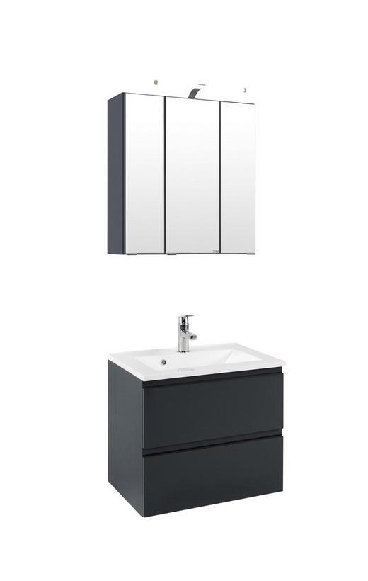 WASCHTISCHKOMBI Grau - Graphitfarben/Weiß, Design, Holzwerkstoff/Stein (60/64/47cm) - Xora