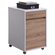 POJÍZDNÝ KONTEJNER - bílá/Sonoma dub, Konvenční, dřevěný materiál/umělá hmota (45/76/60cm) - Carryhome
