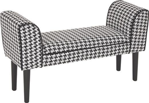 SITZBANK Schwarz, Weiß - Schwarz/Weiß, MODERN, Holz/Textil (102/51/31cm)