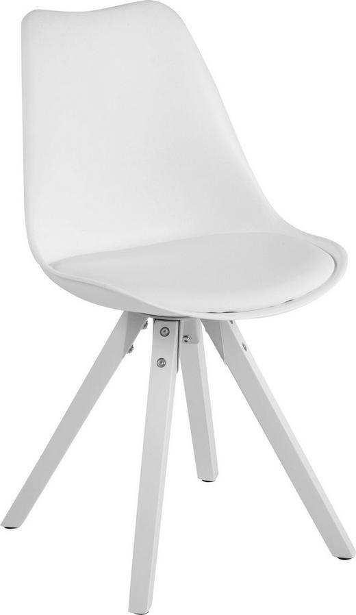 STUHL Weiß - Weiß, Design, Holz/Kunststoff (48/82/56cm) - Carryhome