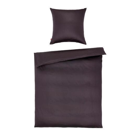 BETTWÄSCHE Makosatin Anthrazit 155/220 cm - Anthrazit, Basics, Textil (155/220cm) - Fleuresse