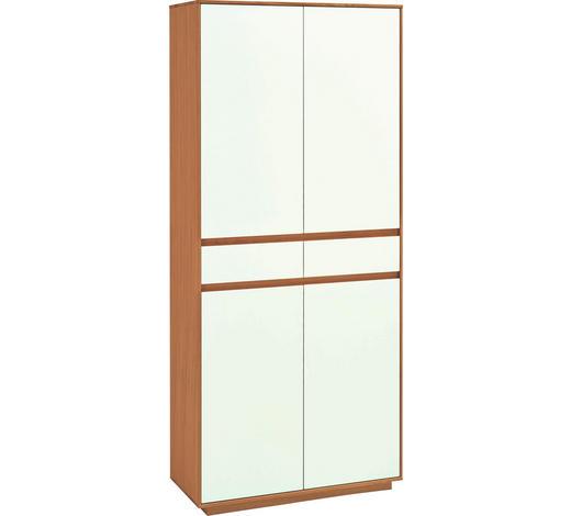 GARDEROBENSCHRANK Eiche teilmassiv lackiert Weiß, Eichefarben  - Eichefarben/Weiß, Basics, Holz/Holzwerkstoff (86/193/37cm)