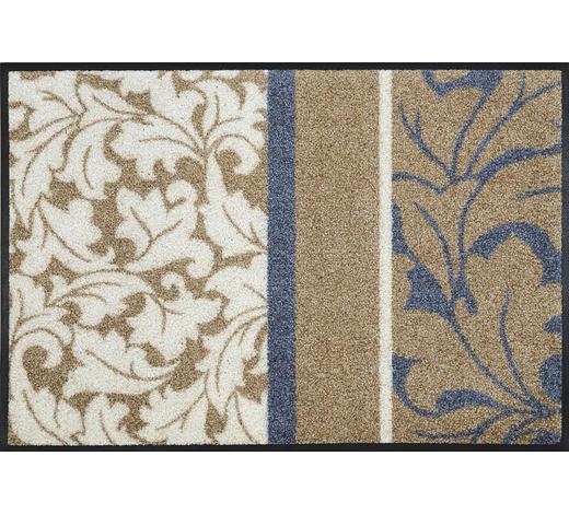 FUßMATTE 50/75 cm Blau, Weiß, Beige  - Blau/Beige, Basics, Kunststoff/Textil (50/75cm) - Esposa