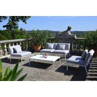 VRTNA GARNITURA - bijela/siva, Design, metal/tekstil - Ambia Garden