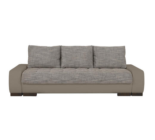 SCHLAFSOFA Webstoff Braun, Grau  - Wengefarben/Braun, Design, Holz/Textil (243/90/100cm) - Carryhome