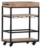 KOLICA ZA SERVIRANJE - crna/natur boje, Design, drvo/metal (67/80/34cm)