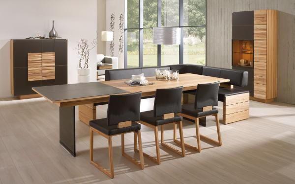ESSTISCH in furniert Wildeiche Eichefarben - Eichefarben, Design, Holz (190/100/76cm) - VOGLAUER
