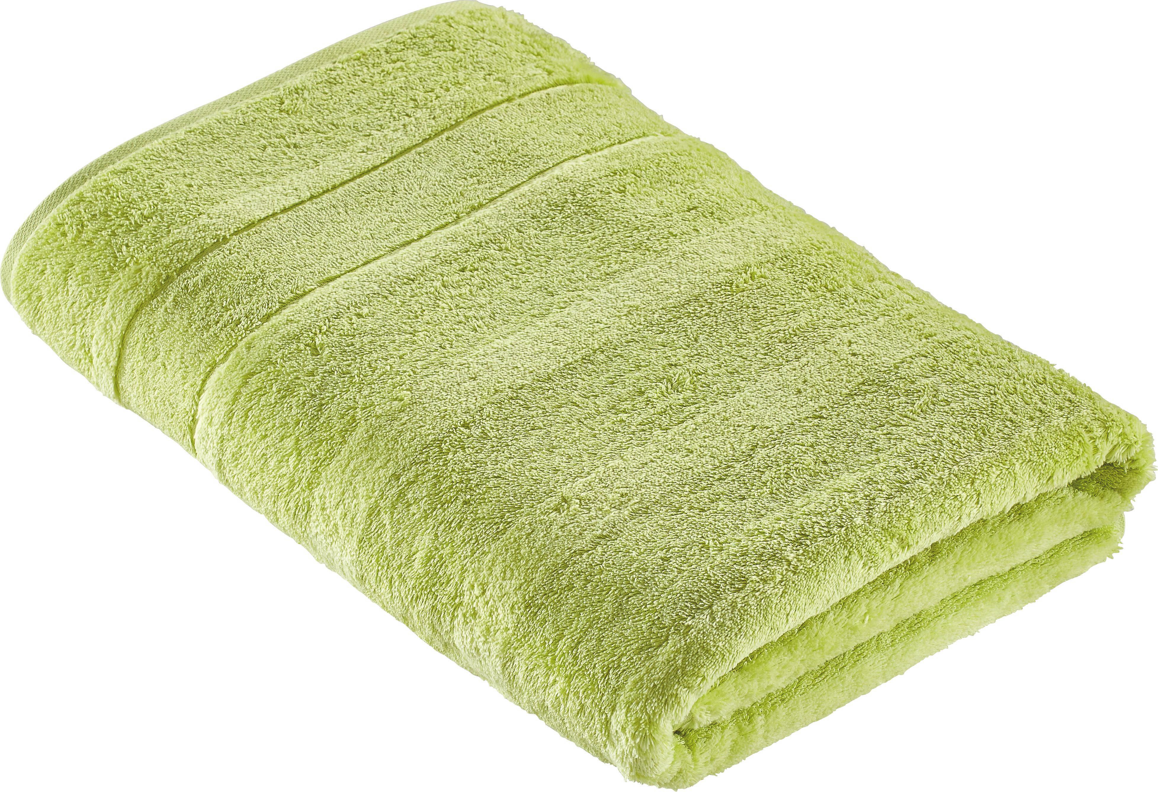 DUSCHTUCH 80/160 cm - Grün, Textil (80/160cm) - CAWOE