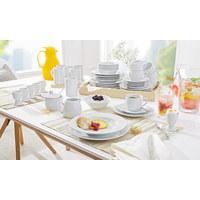 KOMBISERVICE 50-teilig - Weiß, Basics, Keramik - Boxxx