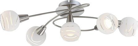 LED-DECKENLEUCHTE - KONVENTIONELL, Glas/Metall (62,5/37/21cm) - Boxxx