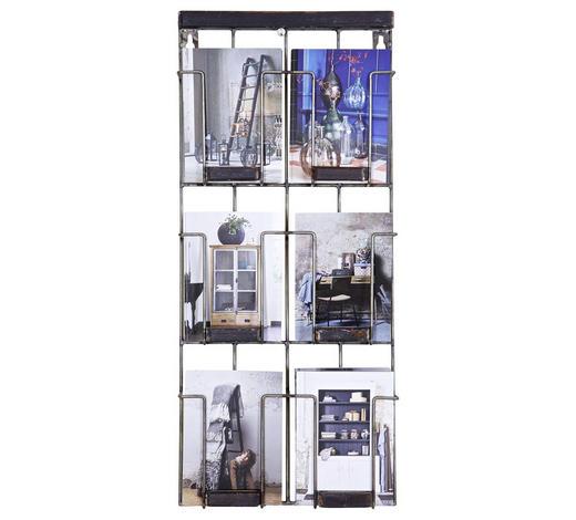 WANDREGAL - Schwarz, Design, Metall (55/24/4,5cm) - Ambia Home