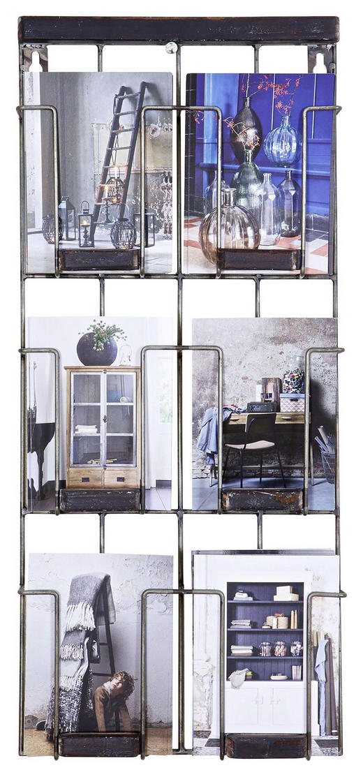 WANDREGAL - Schwarz, MODERN, Metall (55/24/4,5cm) - Ambia Home