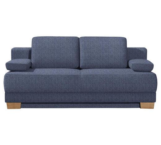SCHLAFSOFA Blau  - Blau/Eichefarben, KONVENTIONELL, Holz/Textil (200/95/101cm) - Livetastic