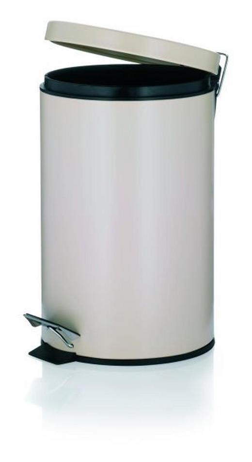 TRETEIMER 12 L - Beige/Schwarz, Basics, Kunststoff/Metall (25/39cm)