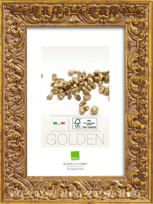 RAHMEN in Goldfarben - Goldfarben, Basics, Glas/Holz (19,6cm)