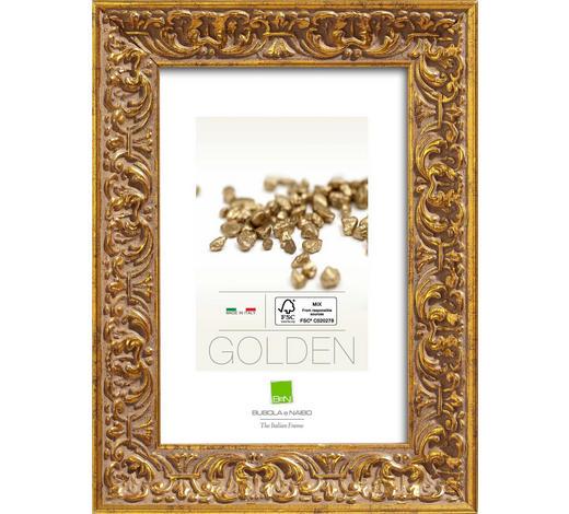 RAHMEN in Goldfarben - Goldfarben, Basics, Glas/Holz (74,6cm)