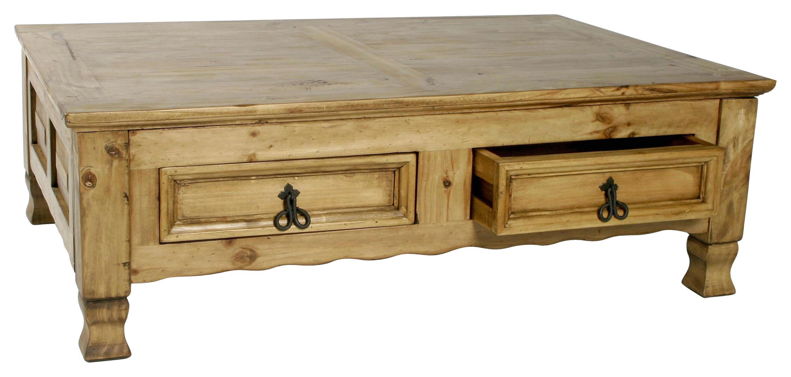 COUCHTISCH Pinie Massiv Honig   Honig, LIFESTYLE, Holz (120/40/80cm