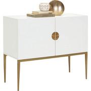 KOMMODE Bronzefarben, Weiß   Bronzefarben/Weiß, Design, Metall (100/85
