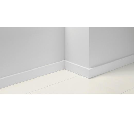 SOCKELLEISTE Weiß - Weiß, Basics, Holzwerkstoff (257/1,65/7cm) - Parador