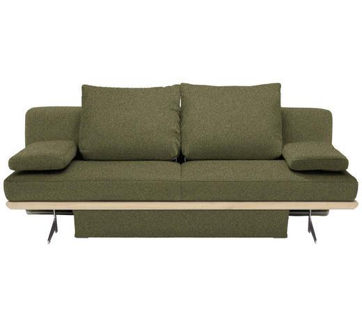 SCHLAFSOFA in Textil Grün - Chromfarben/Grün, Design, Textil/Metall (215/96/103cm) - Dieter Knoll
