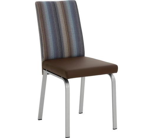 STUHL in Metall, Textil Multicolor - Edelstahlfarben/Multicolor, Design, Textil/Metall (42/48/58,9cm)