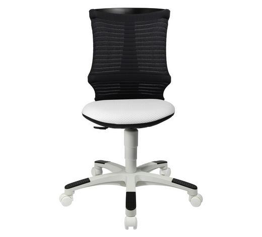 JUGENDDREHSTUHL Netzbespannung Grau, Weiß  - Weiß/Grau, Basics, Kunststoff/Textil (45/85-98/39cm) - Ben'n'jen