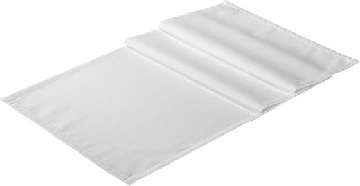 TISCHLÄUFER Textil Jacquard Weiß 50/150 cm - Weiß, Basics, Textil (50/150cm)