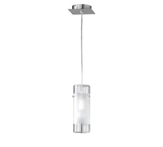 HÄNGELEUCHTE - Nickelfarben, LIFESTYLE, Glas/Metall (8/150cm)