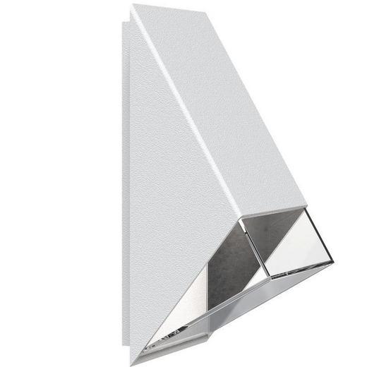 AUßENLEUCHTE Weiß - Weiß, Design, Kunststoff/Metall (10/20cm)