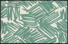 FUßMATTE 50/75 cm Graphik Grün, Beige  - Beige/Grün, Basics, Kunststoff/Textil (50/75cm) - Esposa