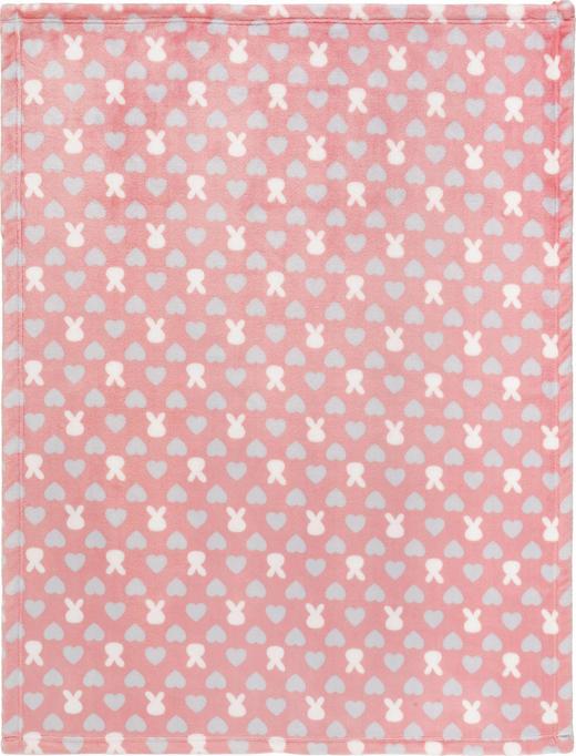 SCHMUSEDECKE - Rosa/Weiß, Basics, Textil (75/100cm) - My Baby Lou
