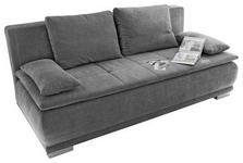 SCHLAFSOFA in Textil, Holzwerkstoff Dunkelgrau  - Dunkelgrau/Silberfarben, MODERN, Holzwerkstoff/Kunststoff (208/93/105cm) - Carryhome