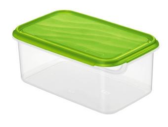 DÓZA NA POTRAVINY - zelená/přírodní barvy, Basics, umělá hmota (24/16/10cm) - Rotho