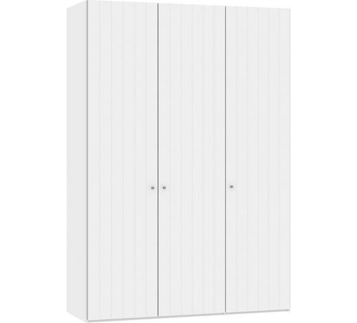 DREHTÜRENSCHRANK in Weiß - Silberfarben/Weiß, Design, Holzwerkstoff/Metall (152,2/220/37,5cm) - Jutzler