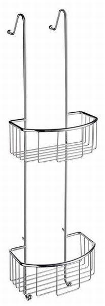 DUSCHKORB - Chromfarben, Basics, Metall (21,7/76/13,4cm)