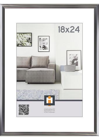 OKVIR ZA SLIKE 107125, 18/24 - srebrna, Basics, umetna masa/steklo (19/25cm) - Novel