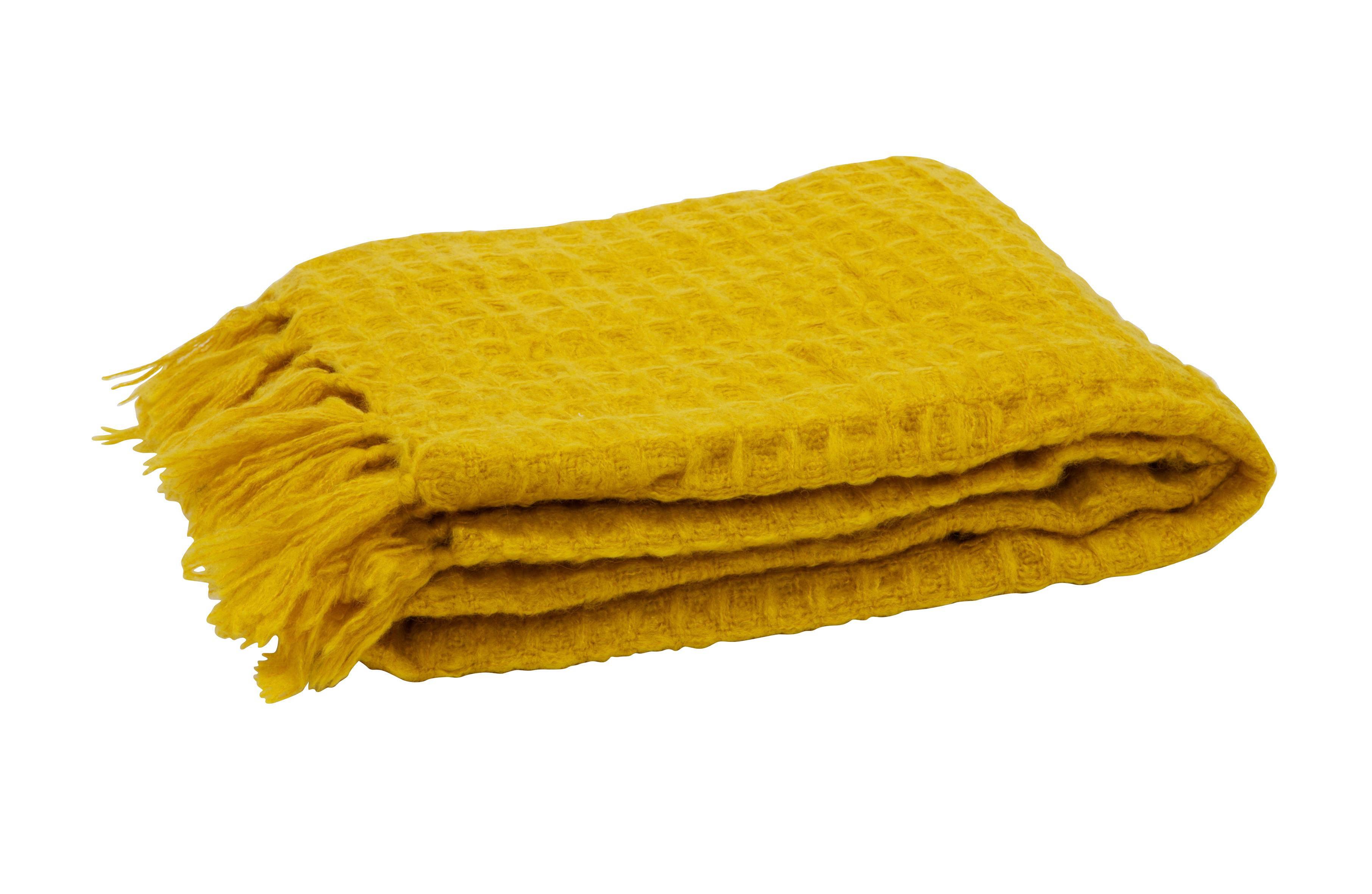 WOHNDECKE 130/170 cm Gelb - Gelb, Textil (130/170cm)