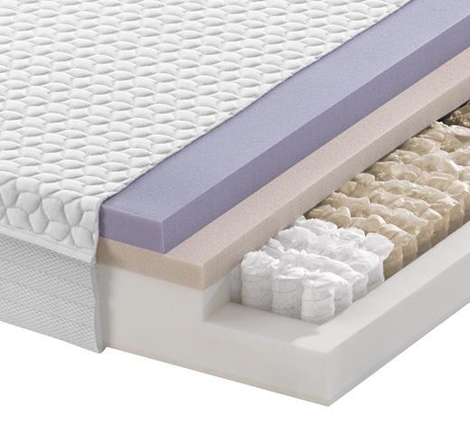 Partnermatratze Taschenfeder FUSION POCKET 22 180/200 cm - Weiß, Basics, Textil (180/200cm) - Dieter Knoll