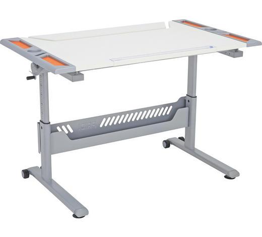 JUGENDSCHREIBTISCH - Orange/Weiß, Basics, Holzwerkstoff/Kunststoff (120/79/70cm) - Paidi
