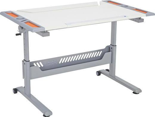 PSACÍ STŮL - bílá/oranžová, Basics, kov/kompozitní dřevo (120/79/70cm) - Paidi
