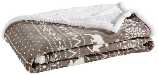 KUSCHELDECKE 150/200 cm Grau, Weiß - Weiß/Grau, Basics, Textil (150/200cm)