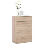SCHUHSCHRANK Eichefarben  - Eichefarben/Silberfarben, KONVENTIONELL, Holzwerkstoff/Kunststoff (65/101/36cm) - Boxxx