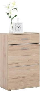 SCHUHSCHRANK - Eichefarben/Silberfarben, KONVENTIONELL, Holzwerkstoff/Kunststoff (65/101/36cm) - BOXXX