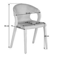 STUHL Wildeiche massiv Eichefarben, Grau - Eichefarben/Grau, Design, Holz/Textil (55/81/57cm) - VOGLAUER