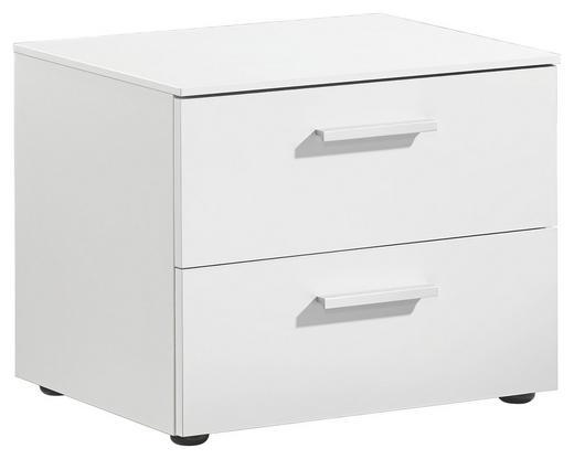 NACHTKÄSTCHEN lackiert, matt Weiß - Alufarben/Weiß, Design (50/41/41cm) - Xora
