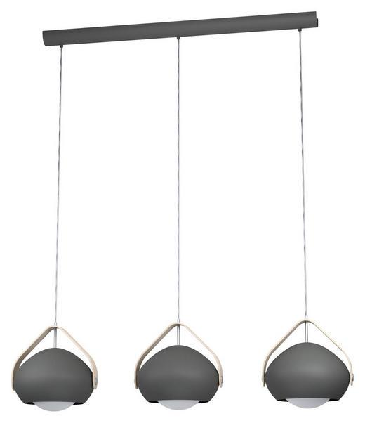 HÄNGELEUCHTE - Braun/Grau, Design, Glas/Holz (95/25,5/110cm) - Dieter Knoll