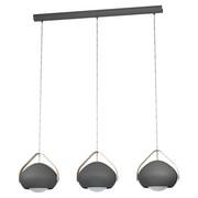 SVÍTIDLO ZÁVĚSNÉ - šedá/hnědá, Design, kov/dřevo (95/25,5/110cm) - Dieter Knoll
